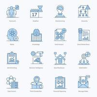 conjunto de iconos de elementos de gestión de proyectos modernos vector