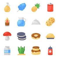 conjunto de iconos de comida vector