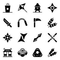 accesorios y elementos japoneses vector