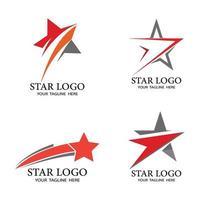 Star icon Template vector illustration design set