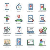 Maps and Navigation Elements vector