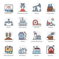 producción y automatización industrial vector