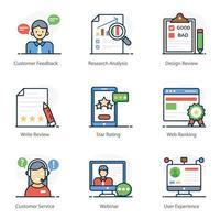 servicio al cliente y comentarios vector