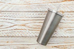 taza de acero inoxidable foto