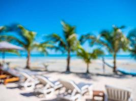 Abstract blur and defocused hotel and resort background photo