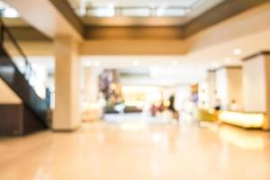 Abstract blur lobby and hotel interior photo