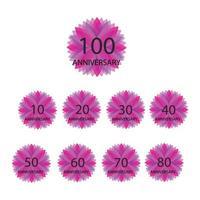 100 years anniversary celebration template vector design illustration