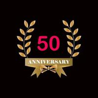50 year anniversary celebration vector template design illustration