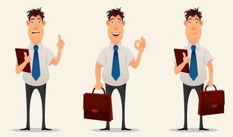 Businessman, office worker. Cartoon character vector