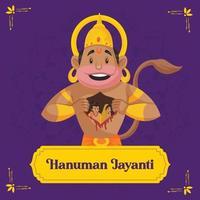 diseño de plantilla de banner de hanuman jayanti