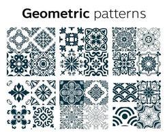 diseño de patrones geométricos en la ilustración vectorial vector