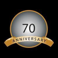 Seventy years anniversary celebration vector template design illustration