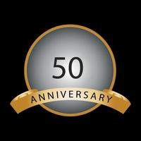 Fifty years anniversary celebration vector template design illustration