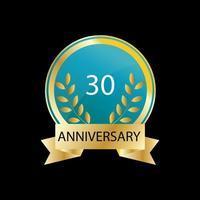 30 year anniversary celebration vector template design illustration