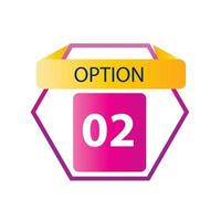 Number 02 option label vector temple design illustration