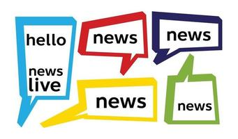bocadillo de diálogo y palabra de noticias vector
