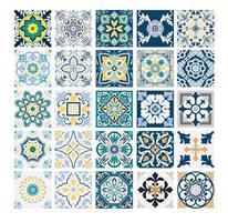 vintage tiles Portuguese patterns antique seamless design in Vector illustration