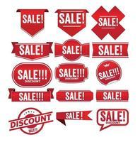 sale red banner promotion tag design for marketing vector