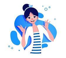 Girl in glasses illustration vector