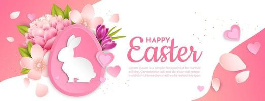 Happy easter greeting card illustration vector