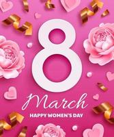 Greeting card for international women's day vector