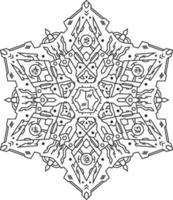 luxury islamic indian alien mandala design art vector