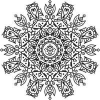 diseño decorativo de lujo creativo turco musulmán mandala vector