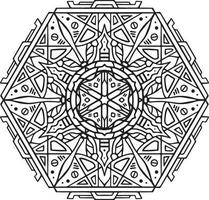 luxury stylish unique indian alien mandala tattoo design for book cover business card vector