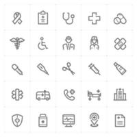 Healthcare and Medical line icons. Vector illustration on white background.