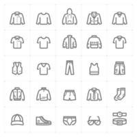 Clothing Man line icons. Vector illustration on white background.