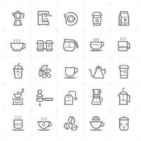 Coffee and Tea line icons. Vector illustration on white background.