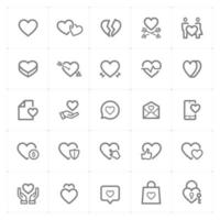 Heart and Love  line icons. Vector illustration on white background.