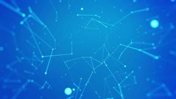 Fondo de línea de plexo de red abstracta video
