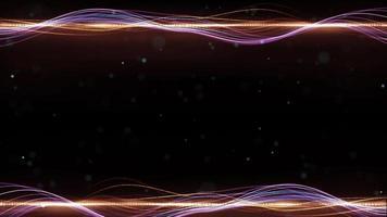 abstracte deeltjeslijn golf frame achtergrond