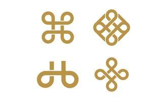 vector de ilustración de diseño de inspiración creativa de logotipo infinito