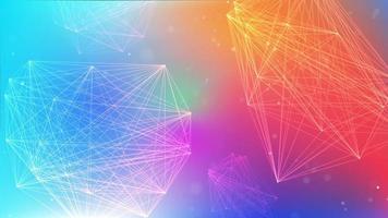 Farbverlauf mit Netzwerklinienwürfeln für modernes Geschäftsthema video