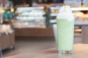 Green tea smoothie photo