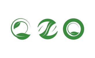 hoja naturaleza logo concepto vector icono aislado