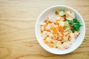 Sashimi rice bowl photo