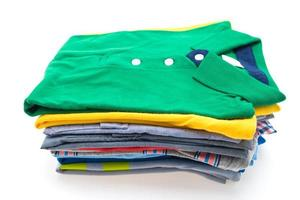 Stack of T Shirt and Polo photo