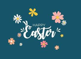 Cute Cartoon Happy Easter Spring Holiday Background Illustration vector