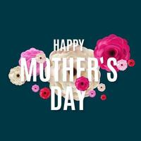 I love you mom. Happy Mother s Day background. Vector Illustration
