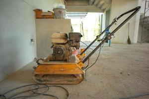 Closeup picture of punching machine in the house under construction