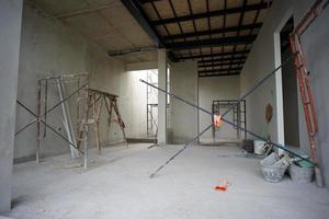 Perspective interior modern design of house under construction. photo