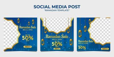 Ramadan sale social media post vector