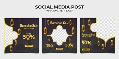 Ramadan sale social media post template