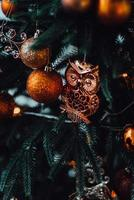 New year festive decorations in warm colors photo
