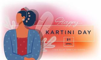 Happy Kartini Day Celebration vector