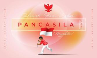 Happy Pancasila Day Celebration vector