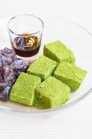 Moji green tea with red bean